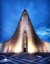 Photo: Wrath of the Norse Gods - Hallgrímskirkja - Iceland  This is Hallgrímskirkja, a church in downtown Reykjavik, Iceland. It is built to resemble an ancient area of the countryside, near a waterfall, where stones in these shapes were found as part of a natural geological formation.  From the blog at www.stuckincustoms.com