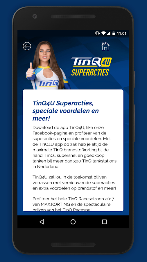 TinQ4u app- screenshot