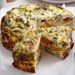 Vegetable and Sour Cream Frittata.