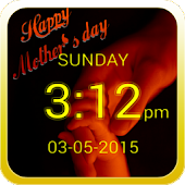 Mother's day Digital Clock LWP