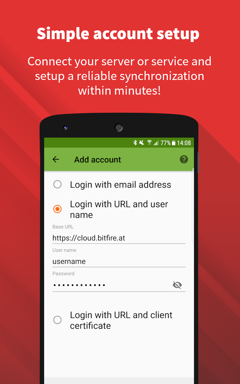 DAVx⁵ (DAVdroid) – CalDAV/CardDAV Client Screenshot 1