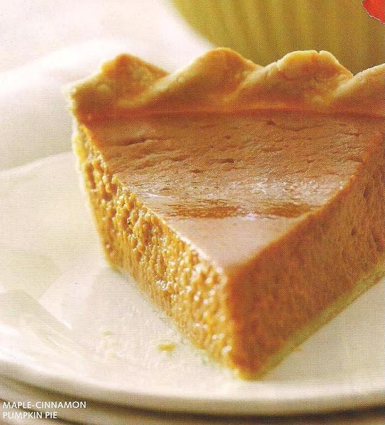 Maple Cinnamon Pumpkin Pie Recipe