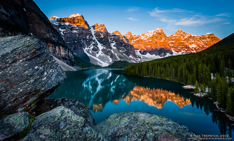 Photo: Back to the Canadian Rockies - one of my most favorite places in North America. Here's the first light at Moraine Lake and the Valley of the Ten Peaks. #landscapephotography