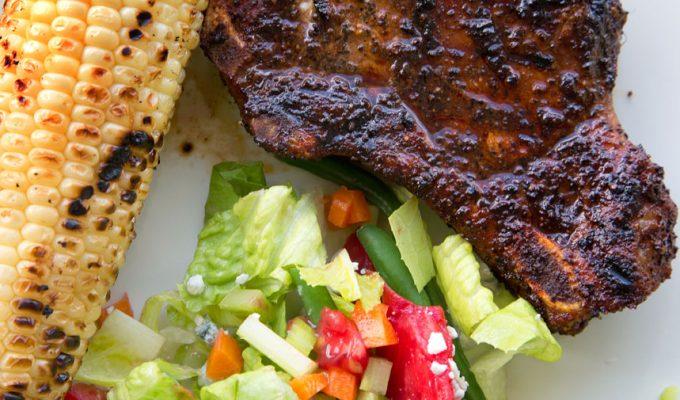Coffee Dry Rub Pork Chops and Chicken Recipe