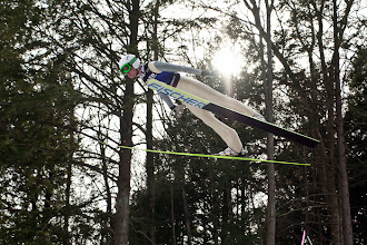 Photo: USA's Chris Lamb soars through the air at the Harris Hill Ski Jump in Brattleboro.(Zachary P. Stephens/Brattleboro Reformer)