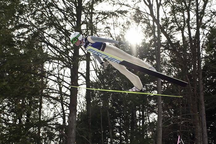 Photo: USA's Chris Lamb soars through the air at the Harris Hill Ski Jump in Brattleboro.(Zachary P. Stephens/Brattleboro Reformer)