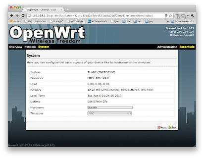 OpenWRT on Netgear DG834G v2