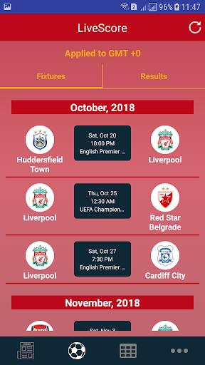 Liverpool LiveScore 1.0 screenshots 1