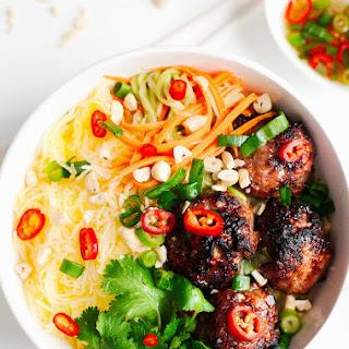 """Vietnamese Caramelized Pork Meatball """"Vermicelli"""" Bowls"""