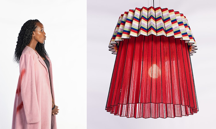 Thabiso Mjo of Mash.T Design Studio and her Tutu 2.0 Pendant Light.