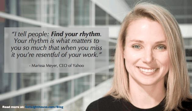 instead of a 4 day work week, help your team find their rhythm, says marissa meyer