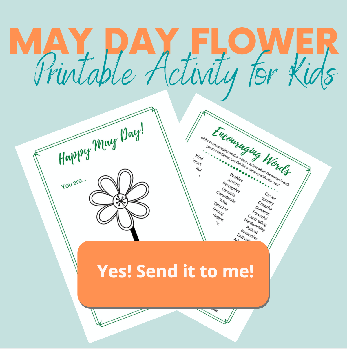 Printable May Day Flower Activity
