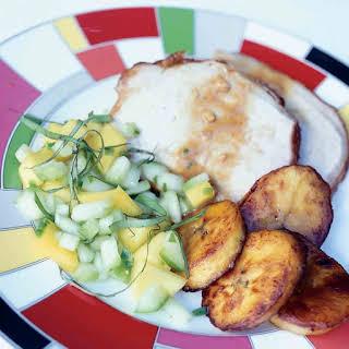 Roasted Pork with Sticky Mango Glaze.