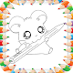 Cute Hamster Coloring Book