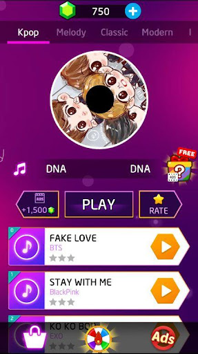 Kpop: BTS Piano Tiles 3 1.6 screenshots 1
