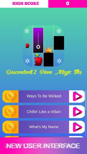 Descendants 2 Piano Magic Tiles 1.2 screenshots 1