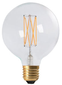 PR Home Elect LED Filament Globe 125 mm Klar - lavanille.com