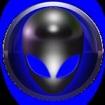 poweramp skin alien blue Icon