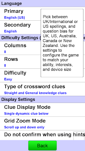Crossword Screenshot