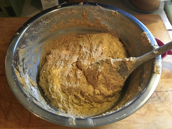 Make a well in the center of the flour mixture pour the water /yeast...