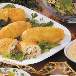 Puff Pastry Chicken Bundles