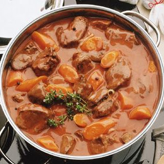 Meat Stew With Beans And Pumpkin.