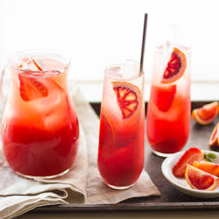 Strawberry Blood Orange Rum Punch.