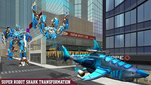 Warrior Robot Sharku2013 Shark Robot Transformation apktram screenshots 1