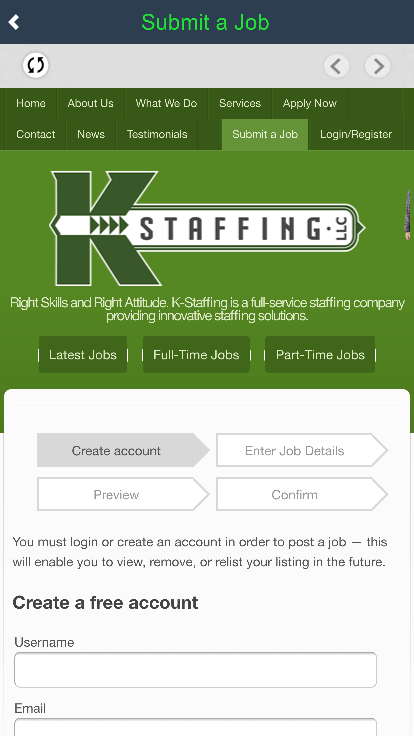 KStaffing- screenshot