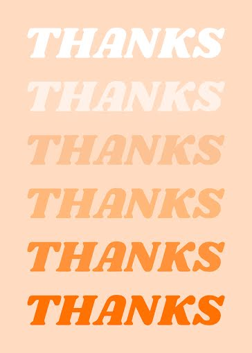 Many Thanks - Thank You Card Template