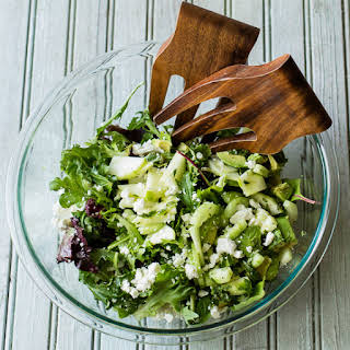 Apple and Avocado Salad with Fresh Mint and Lime.