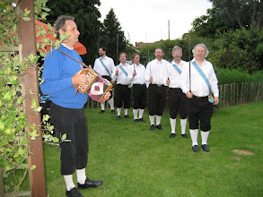 Photo: Our guests, Coventry Morris, look threatening ...