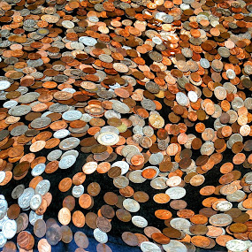 Coins on the Move by Sue Green - Artistic Objects Other Objects ( coins, pwccoins, money, action )