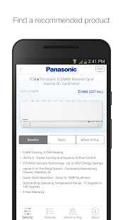 Panasonic Aircon Sizing Wizard- screenshot thumbnail