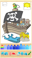 Screenshot of Pirates Coloring Pages
