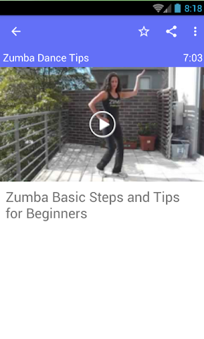 android Zumba Dance Tips Screenshot 1