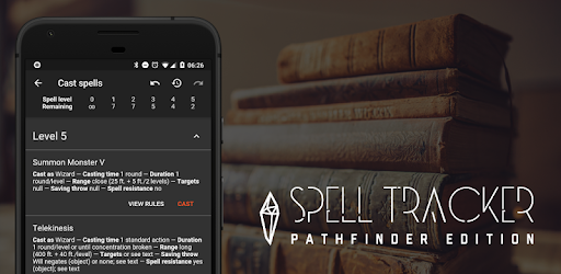 Spell Tracker: Pathfinder RPG companion tool - Apps on