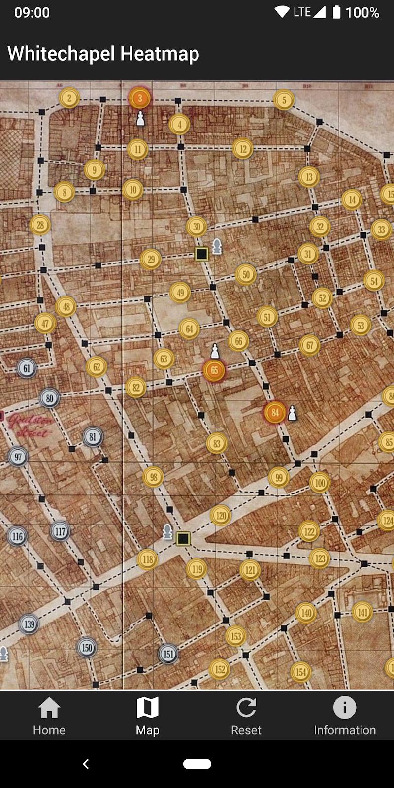 Whitechapel Heatmap Screenshot 2