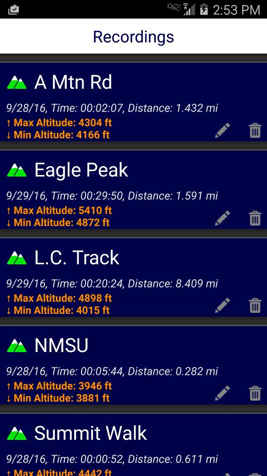 DS Altimeter Screenshot 5
