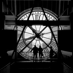 Silhouettes At The Musee d'Orsay by Jebark Fineartphotography - Buildings & Architecture Public & Historical ( paris, clock, art, france, museum, historical, gare )