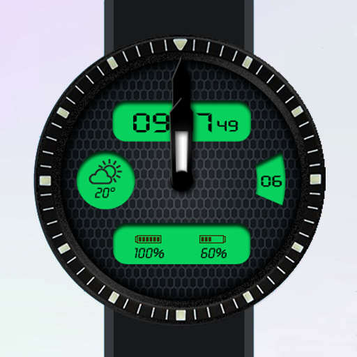 Electronic Charm 4 Watch Face
