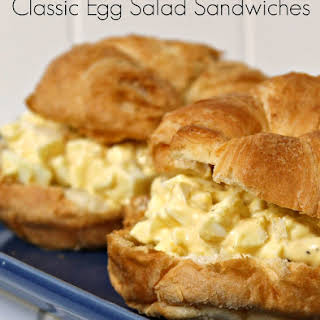 Classic Egg Salad Sandwiches.