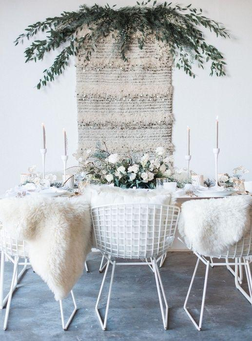 A beautiful winter wonderland table setting will wow your guests.  Winter Wedding Ideas You Will Love – Wedding Soiree Blog by K'Mich, Philadelphia's premier resource for wedding planning and inspiration