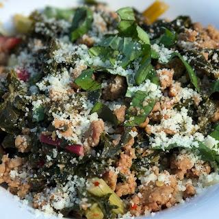 Sausage, Kale and Rainbow Chard Pasta.