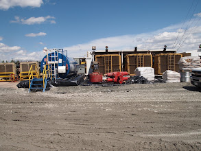 Photo: Diesel generators and air compressors.