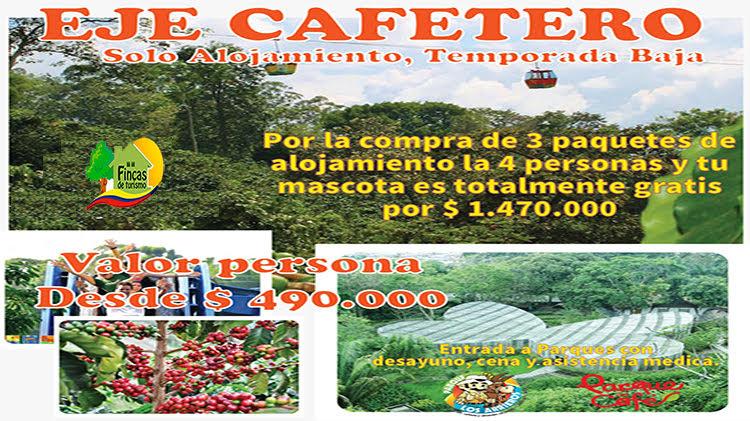 Paquetes Turísticos al Eje Cafetero