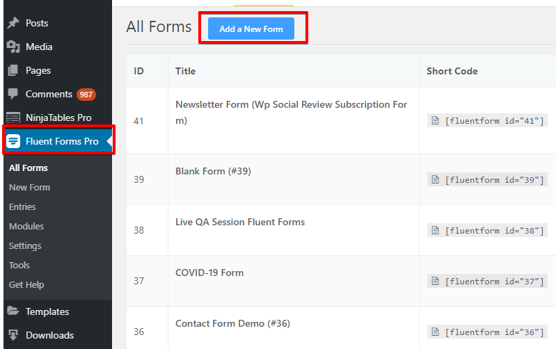 Thrive lead, WP Fluent Forms, opt-in form for WordPress