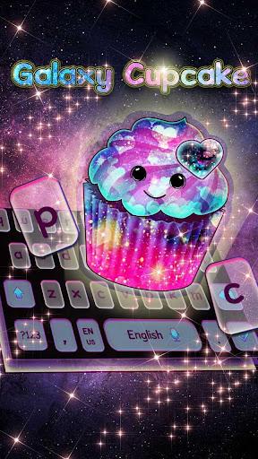 Galaxy Cupcake Keyboard Theme for PC