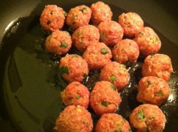 a small bowl, add your meatball ingredients.  Mix well till rice is incorporated...
