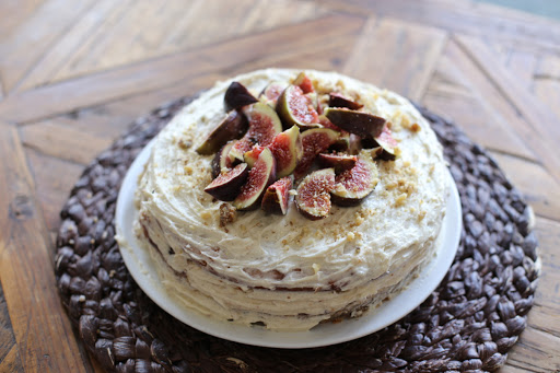 Walnut Cake With Fig-honey Preserves And Ermine Buttercream